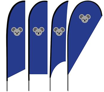 Reklaminių vėliavų modeliai