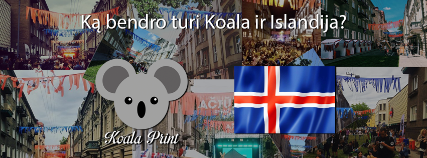 Aciu tau Islandija Koalaprint Veliavos 2