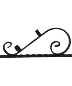 Vienvietis vėliavos laikiklis 24, dekoratyvinis, juodos spalvos