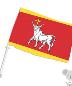 Kauno miesto automobilinė vėliavėlė su koteliu