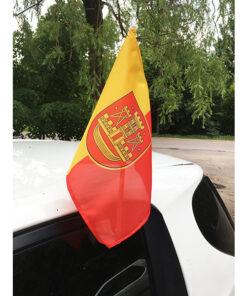 Klaipėdos miesto automobilinė vėliavėlė su koteliu