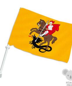 Marijampolės miesto automobilinė vėliavėlė su koteliu