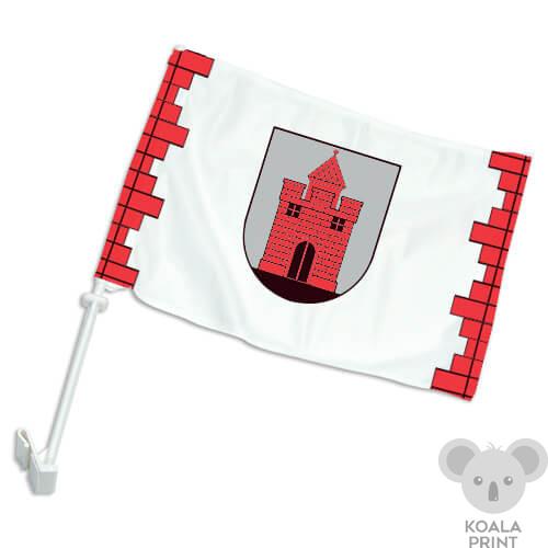 Panevėžio miesto automobilinė vėliavėlė su koteliu