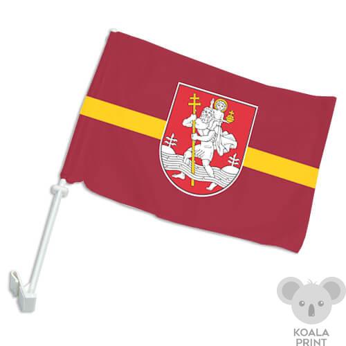 Vilniaus miesto automobilinė vėliavėlė su koteliu