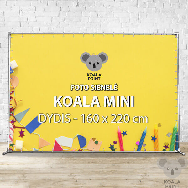 Foto sienelė Koala Mini - 160 x 220 cm
