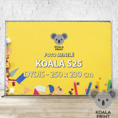 Foto sienelė Koala S25 - 250 x 230 cm