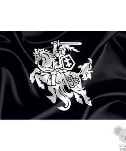 Juoda vėliava su Vyčiu