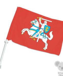 Lietuvos istorinė automobilinė vėliavėlė su koteliu