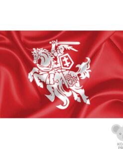 Raudona vėliava su Vyčiu