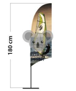 Reklaminė vėliava Concave XS su spausdinta kišene