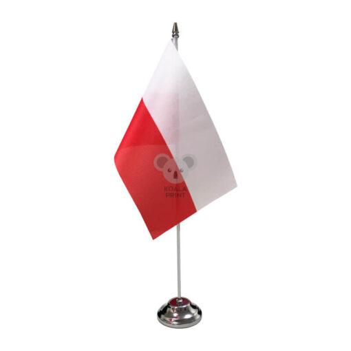 Lenkijos stalo vėliavėlė, 12 x 20 cm