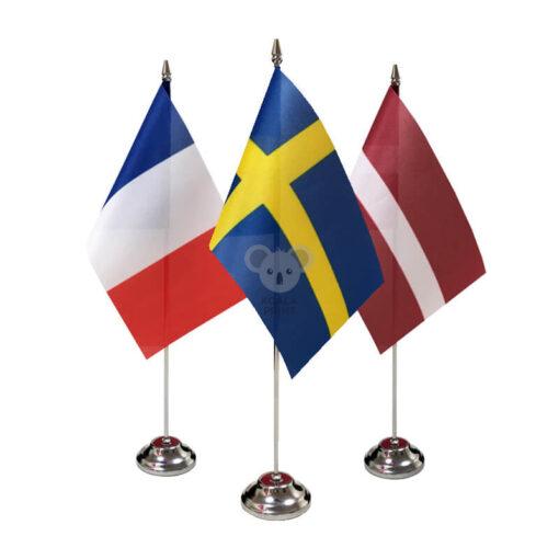 Pasirinktos šalies stalo vėliavėlė, 12 x 20 cm