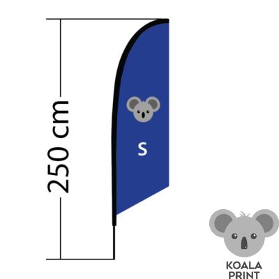 Reklaminė vėliava Angled, dydis S