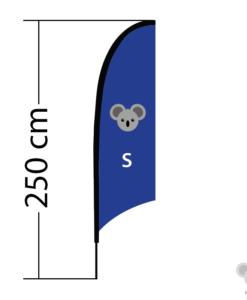 Reklaminė vėliava Concave, dydis S