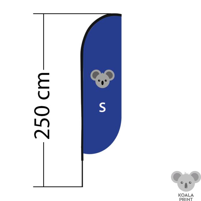 Reklaminė vėliava Convex, dydis S