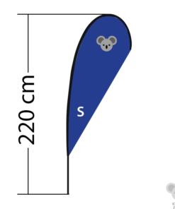 Reklaminė vėliava Drop, dydis S