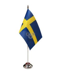 Švedijos stalo vėliavėlė, 12 x 20 cm