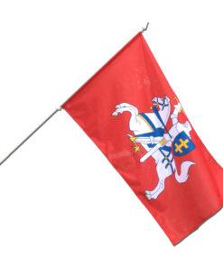 Metalinis fasadinis vėliavos stiebas ALU 130 cm, tvirtinamas prie sienos