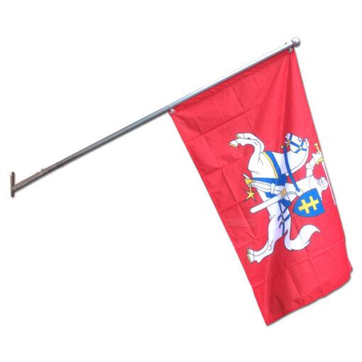Aliuminis fasadinis vėliavos stiebas ALU 150 cm, tvirtinamas prie sienos