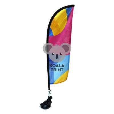 Prisiurbiama reklaminė vėliava Straight, su stoveliu