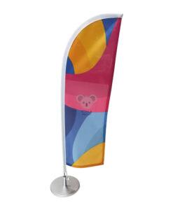 Stalinė reklaminė vėliava Straight, su stoveliu
