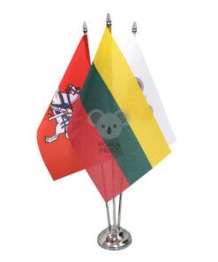 Trivietis metalinis vėliavėlės stovelis SILVER
