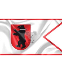 """Žemaitijos vėliava """"Su meška skyde, su antkakliu"""""""