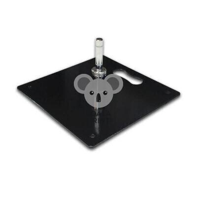 Plieninis pagrindas 30 x 30 cm, su sukikliu