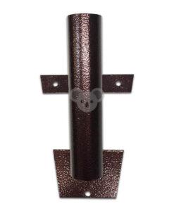 Metalinis laikiklis vėliavos kotui, 1-3 vietų, tamsiai rudas