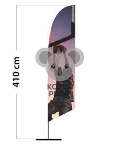 Reklaminė vėliava Angled L su spausdinta kišene