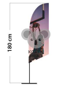 Reklaminė vėliava Angled XS su spausdinta kišene