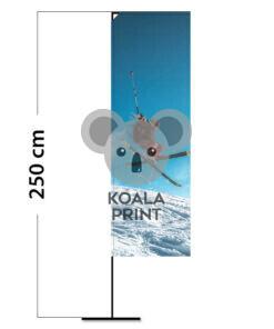 Reklaminė vėliava Block ALU XS su spausdinta kišene