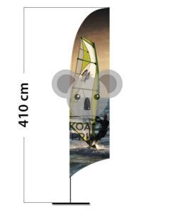 Reklaminė vėliava Concave L su spausdinta kišene