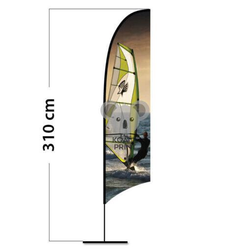 Reklaminė vėliava Concave M su elastine kišene