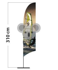 Reklaminė vėliava Concave M su spausdinta kišene