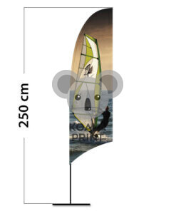 Reklaminė vėliava Concave S su spausdinta kišene