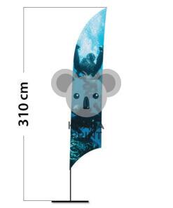 Reklaminė vėliava Shark M su spausdinta kišene