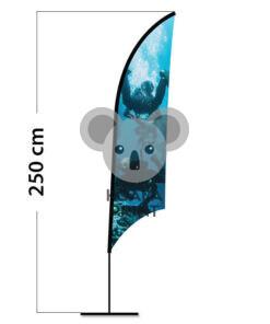 Reklaminė vėliava Shark S su elastine kišene
