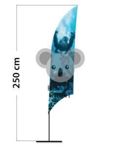 Reklaminė vėliava Shark S su spausdinta kišene