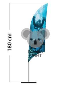 Reklaminė vėliava Shark XS su spausdinta kišene
