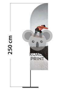 Reklaminė vėliava Straight S su spausdinta kišene