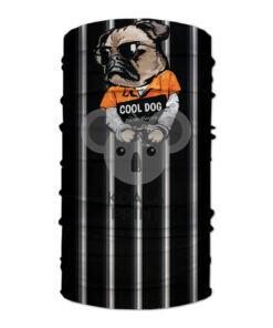 """Veido apdangalas su spauda """"Cool Dog"""", juodas"""