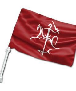 Senojo Vyčio automobilinė vėliavėlė su koteliu V
